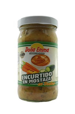 DONA EMMA ENCURTIDO EN MOSTAZA EN TROCITOS 190GR
