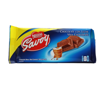 SAVOY LECHE CHOCOLATE 130GR