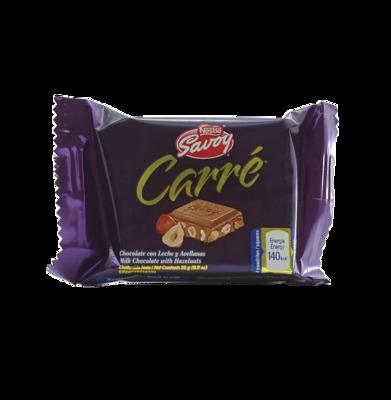 SAVOY CARRE MINI CHOCOLATE CON LECHE/AVELLANA 25 GR.