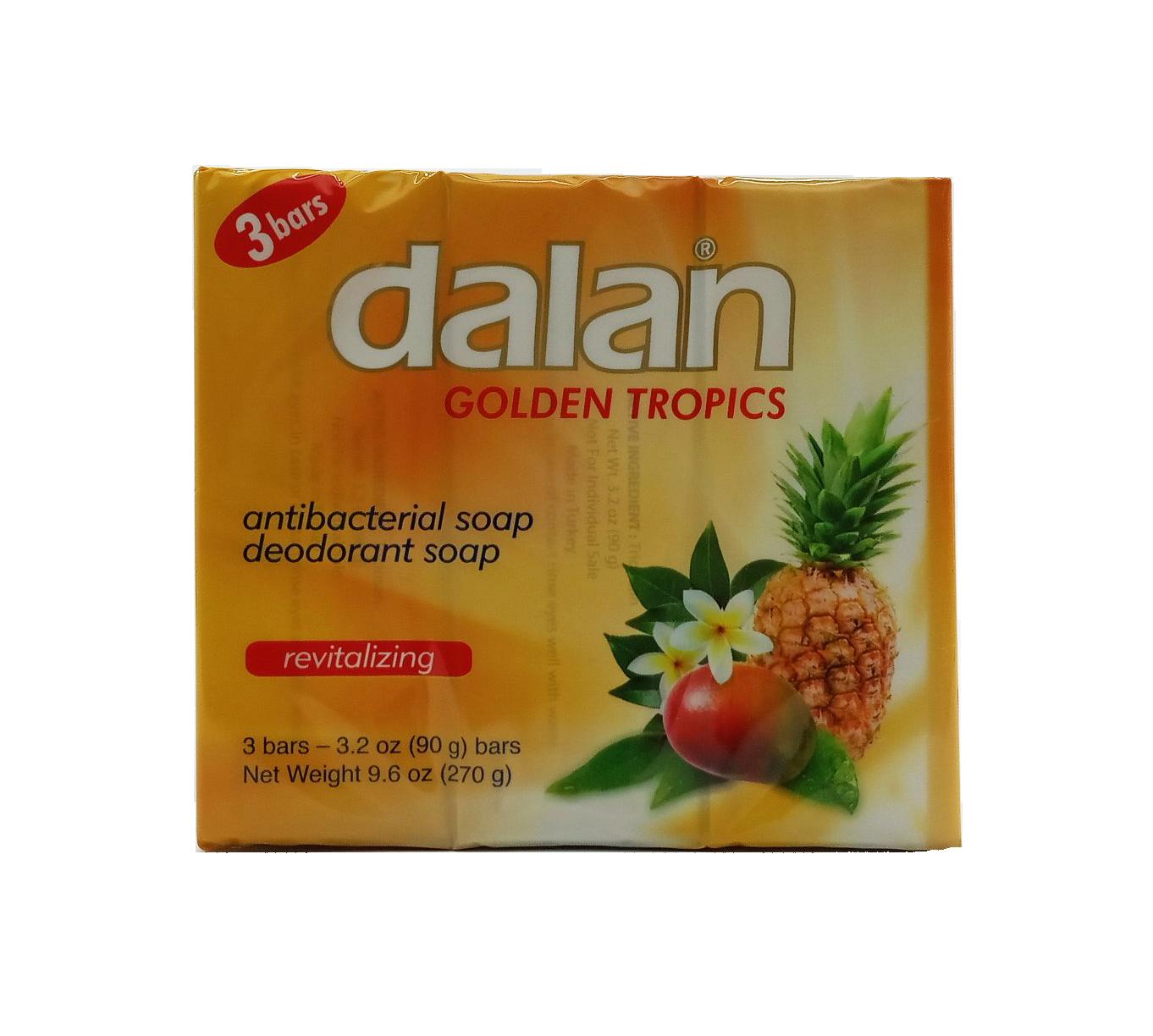 DALAN JABON ANTIB.GOLDEN TROPICS 3X90GR