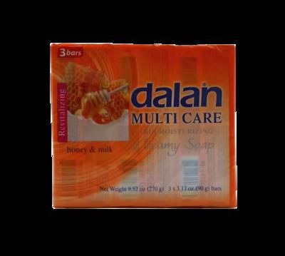 DALAN JABON MULTICARE MIEL C/LECHE 3X90GR