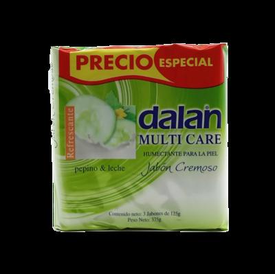 DALAN JABON CREMOSO PEPINO LECHE 3X125GR