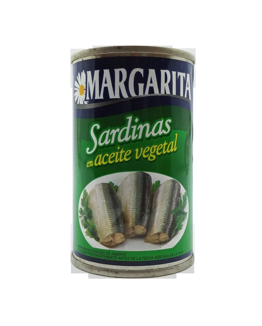 MARGARITA SARDINAS ACEITE VEGETAL 170GR
