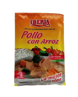 IBERIA SOPA DE POLLO CON ARROZ 65GR