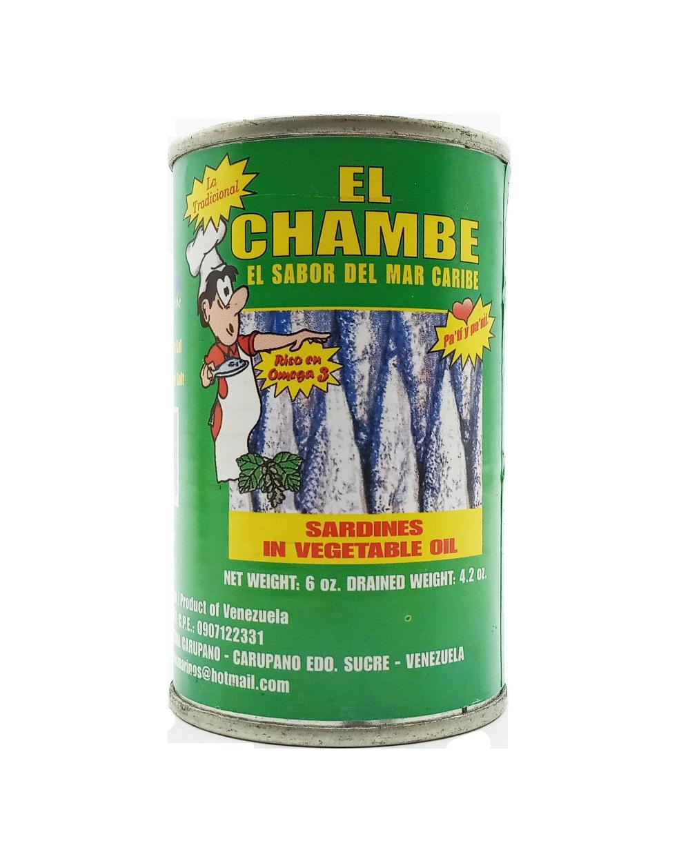 EL CHAMBE SARDINA  ACEITE VEGETAL 170GR