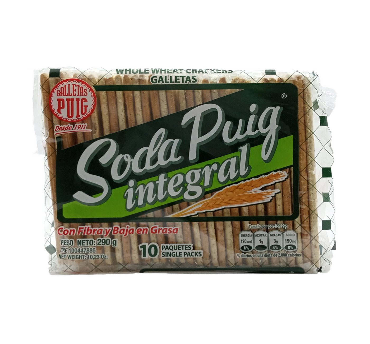 PUIG SODA INTEGRAL GALLETAS  290GR