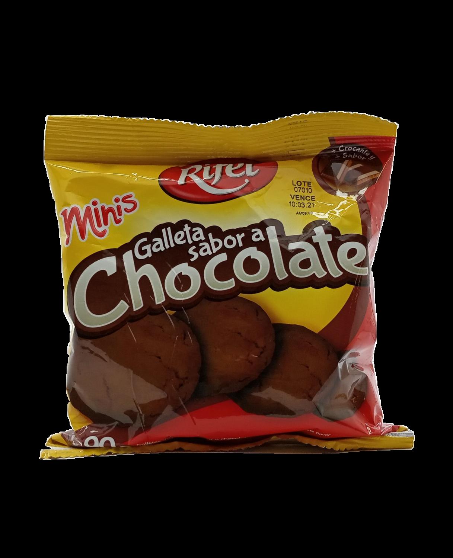 RIFEL MINIS GALLETAS CON SABOR A CHOCOL 90GR