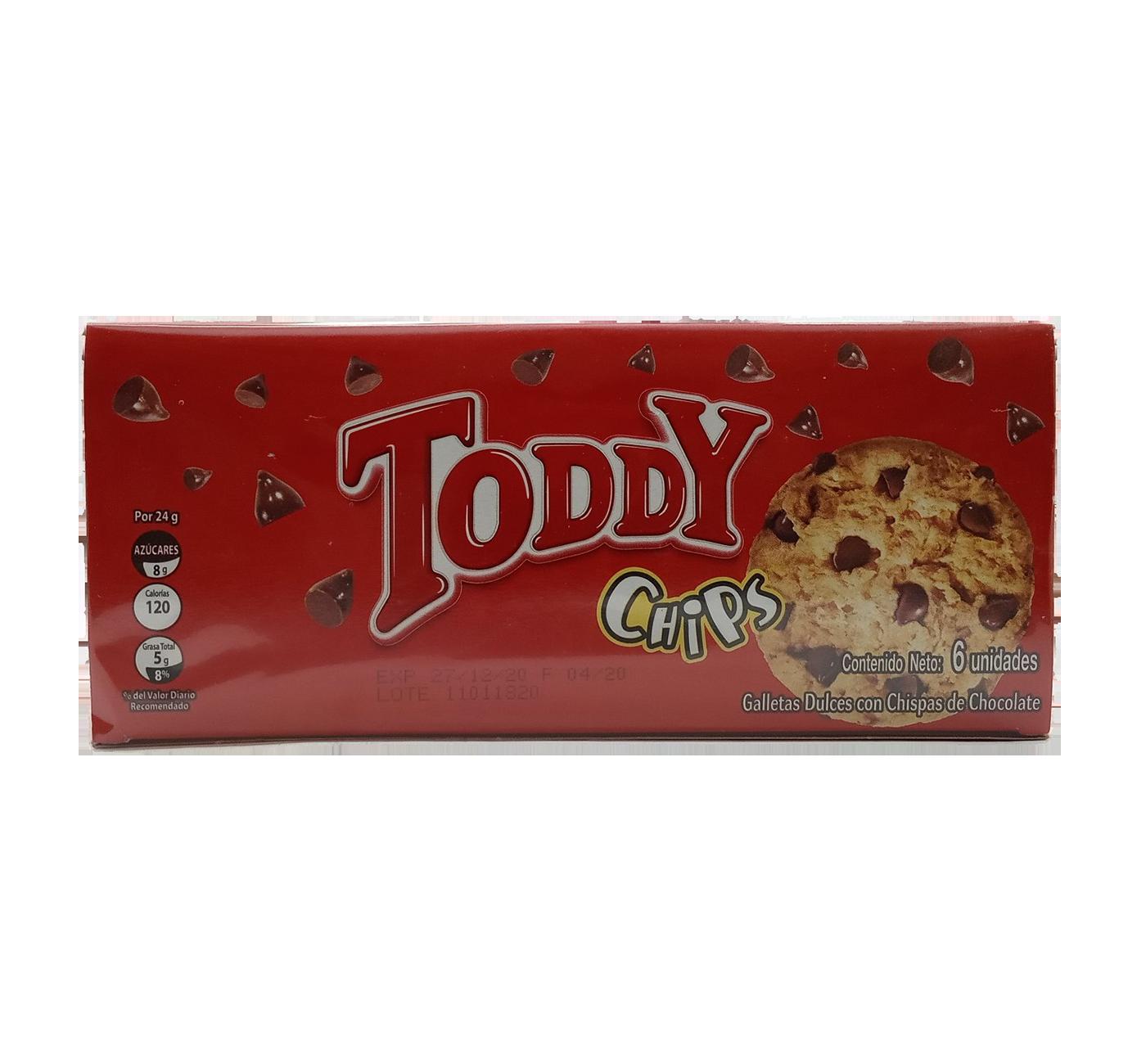 TODDY GALLETAS CHIPS 24GR