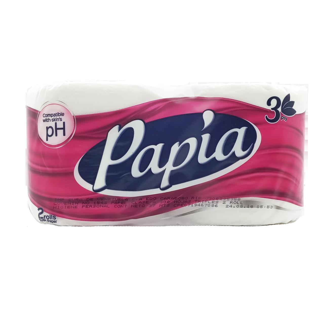 PAPIA PAPEL HIGIENICO BLANCO PH 2 ROLLOS/300 HOJAS  REF-01045012
