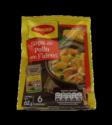 MAGGI SOPA POLLO CON FIDEOS 62GR