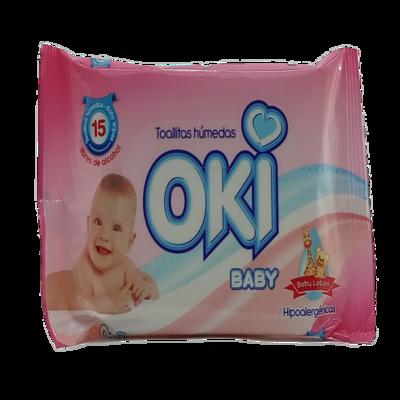 OKI TOALLAS HUMEDAS BABY LOTION 15 UND REF-19220045
