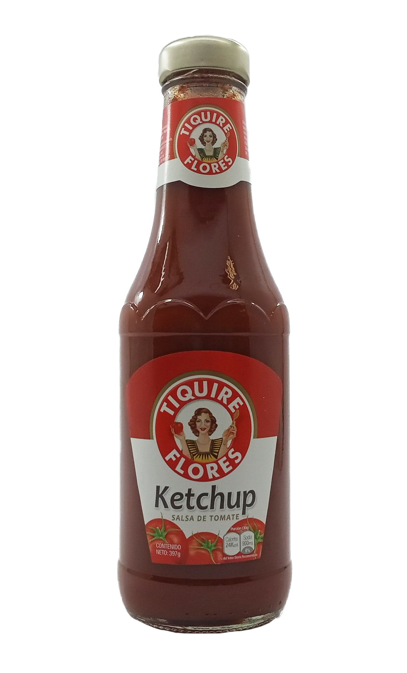 TIQUIRE FLORES SALSA TOMATE KETCHUP 397GR