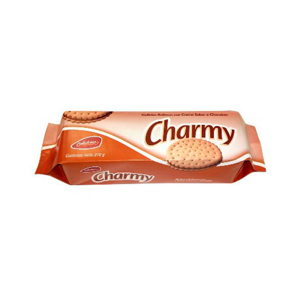 CHARMY GALLETAS RELLENAS CHOCOLATE 216GR