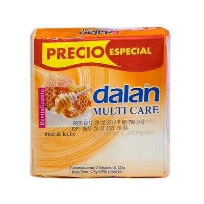 DALAN JABON CREMOSO MIEL LECHE 3X125GR
