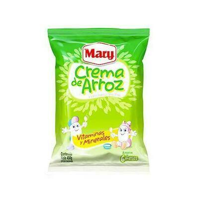 MARY CREMA DE ARROZ ENRIQUECIDA BOLSA 450GR