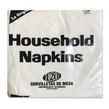 HOUSEHOLD NAPKINS SERVILLETA MESA 120UN