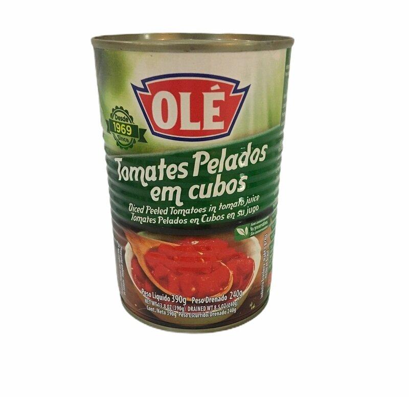 OLE TOMATES PELADOS EN CUBO 390GR