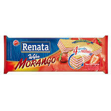 RENATA WAFER MORANGO STRAWBERRY 115GR