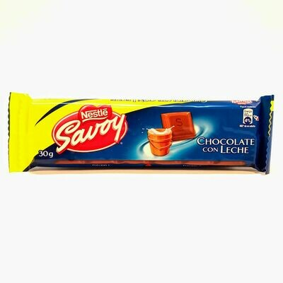 SAVOY LECHE CHOCOLATE 30GR
