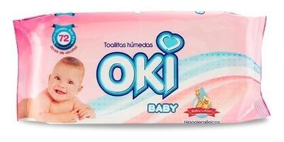 OKI TOALLAS HUMEDAS BABY LOTION 72UN 19220040