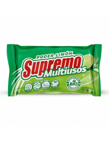 SUPREMO JABON MULTIUSOS LIMON BARRA 100GR