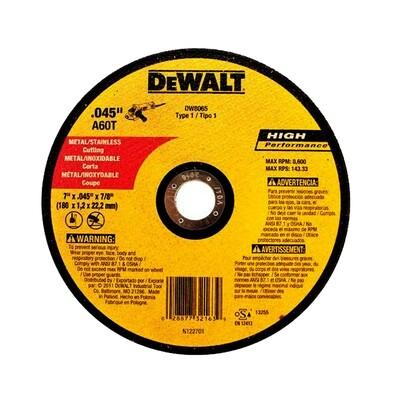 DEWALT DISCO CORTE METAL ULTRADELGADO 7X0.45X7/8 REF-DW8427