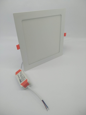 VERT PANEL LED EMPOTRABLE 18W CUADRADO 85-265V-90-100LM/W-6500K REF-PCE-186