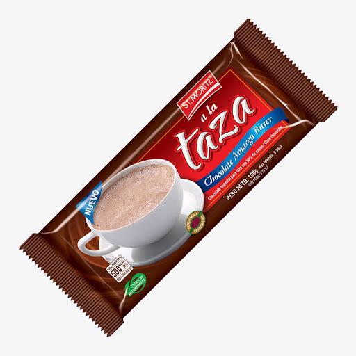 ST. MORITZ CHOCOLATE TAZA AMARGO BITTER 6UNI MOST 100GR
