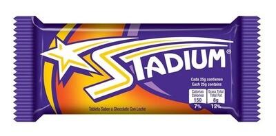 STADIUM TABLETA DE CHOCOLATE C/LECHE 25GR