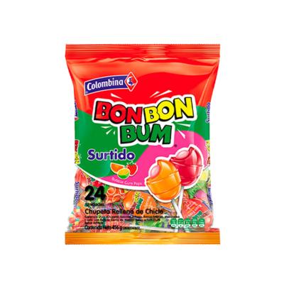 COLOMBINA BON BON BUM CHUPETA SURTIDA 480GR