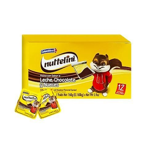 COLOMBINA NUTTELINI PASTA CHOC MOST 14GR