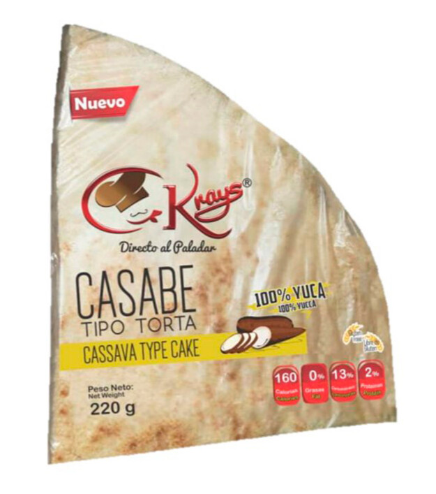 KRAYS CASABE NATURAL TORTA 220GR