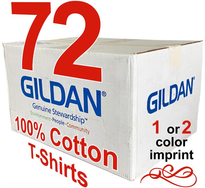 72 100% Cotton Gildan T-Shirts