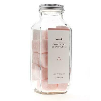 Harper+Ari Exfoliating Full Size Sugar Cubes: Rose