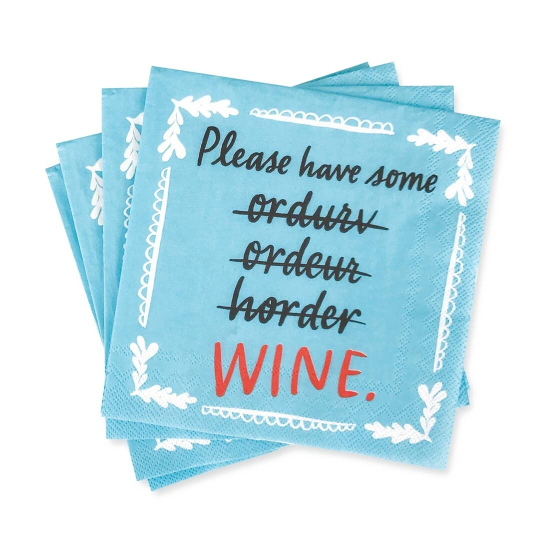 Beverage Napkins: Please Have Some Wine