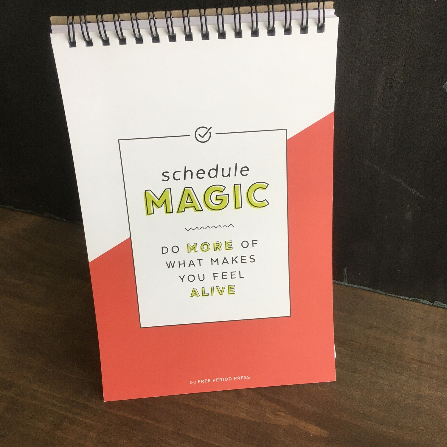 Schedule Magic Spiral Notepad