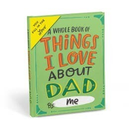 Things I Love About Dad, Fill In Book