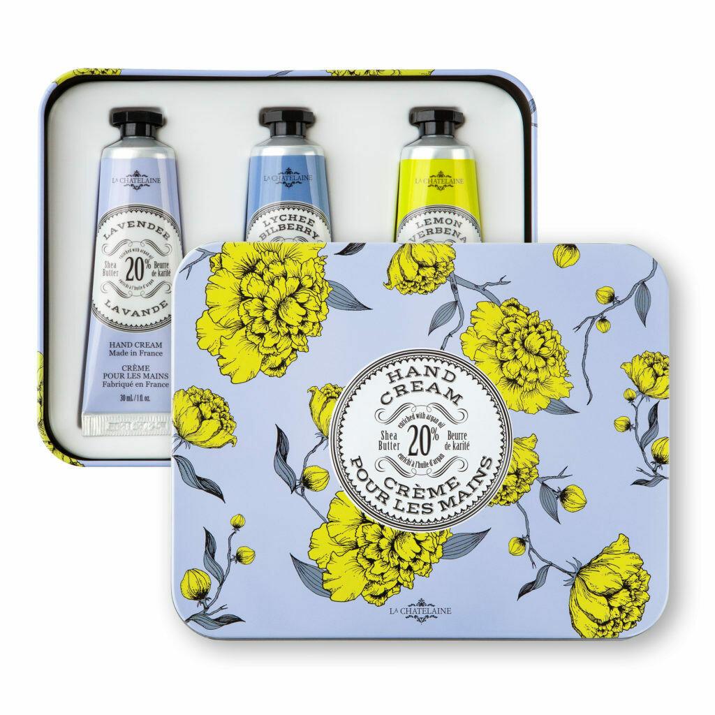 La Chatelaine Gift Set: Lavender Hand Cream Trio