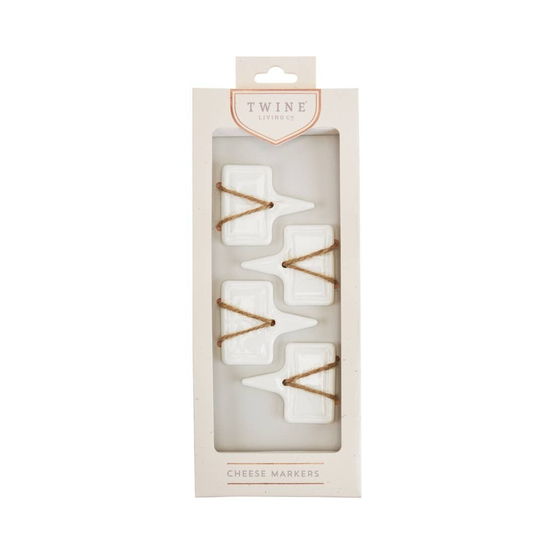 Twine Ceramic Cheese Markers