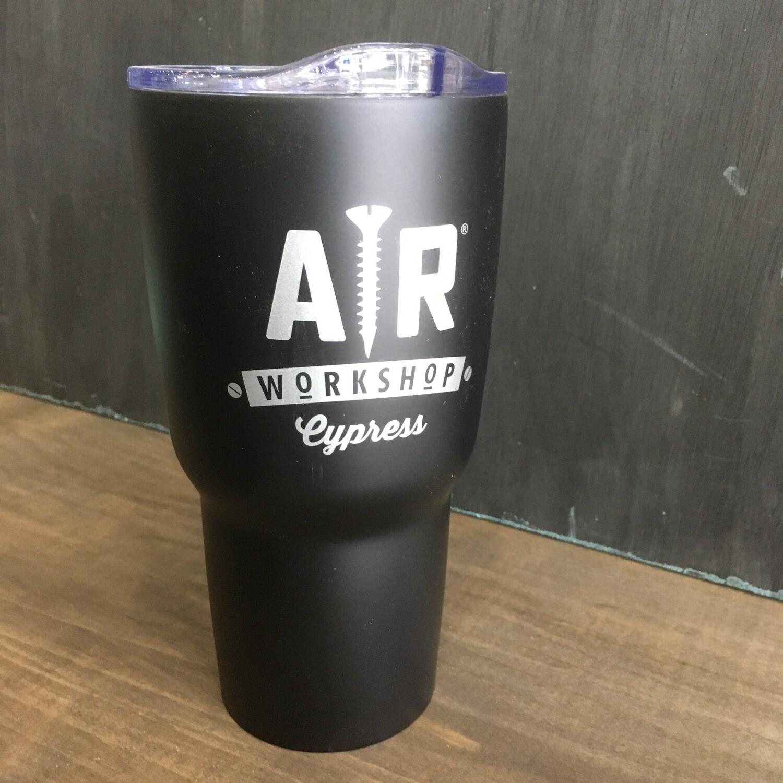 Large Metal AR Workshop Cup: Black/Silver