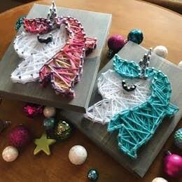 Multicolor Unicorn Mini String Art Kit
