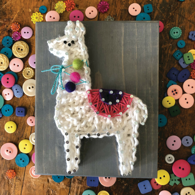Llama Mini String Art Kit