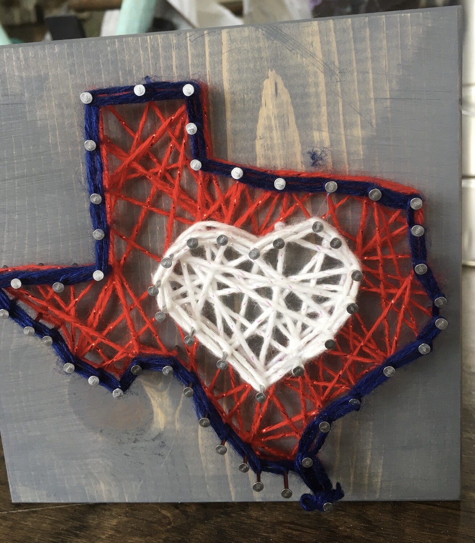 Texas State Mini String Art Kit