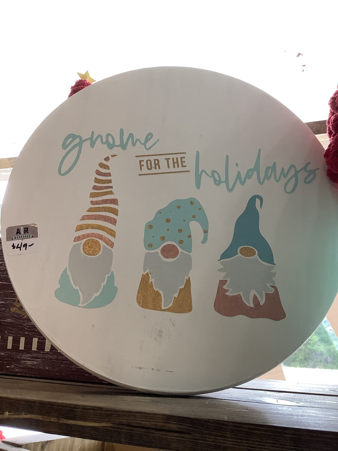 "Holiday Gnomes 12"" Round"