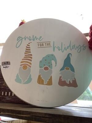 "Holiday Gnomes 12"" Round"