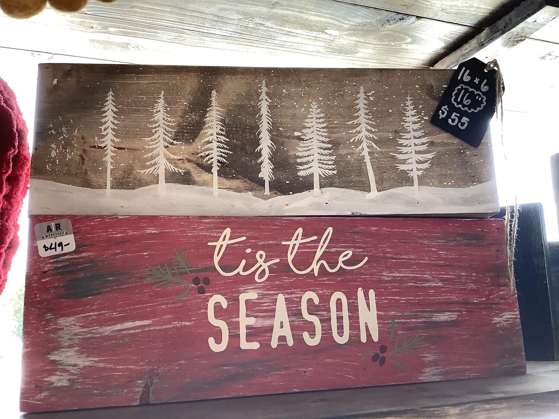 "16"" 'Tis the Season Centerpiece Box"