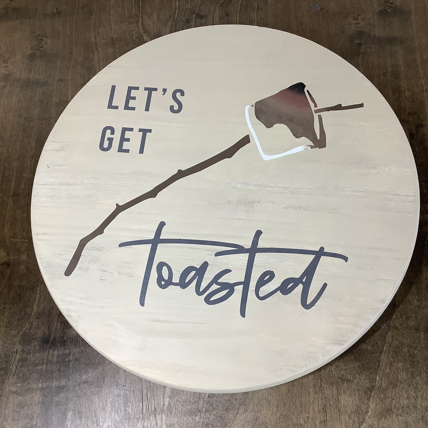 """18"""" Lazy Susan: Let's Get Toasted"""