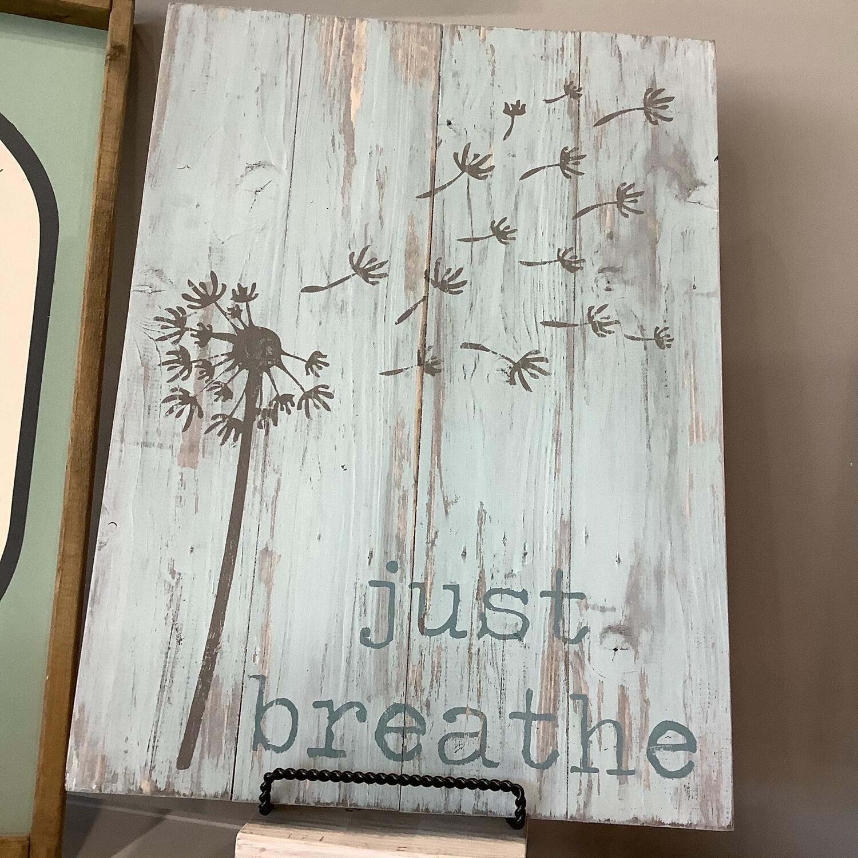 Just Breathe 14x19 Plank