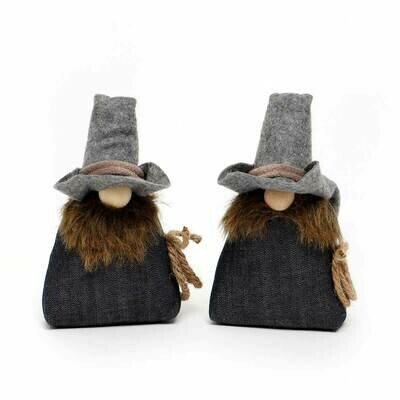 Ryder & Rex Denim Gnomes, Sold Separately