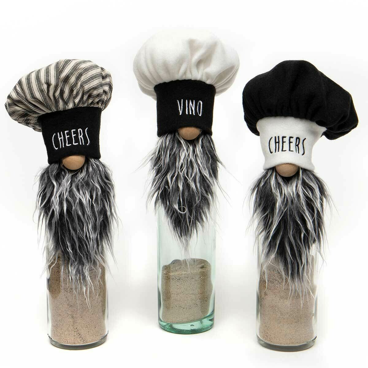 Bon Appetit Bottle Topper Gnomes, Sold Separately